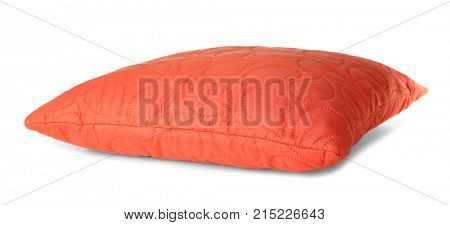 Soft coral pillow, isolated on white