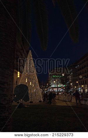 Christmas Holiday Lights In Palma
