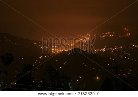 Beautiful night image of Darjeeling Queen of Hills West Bengal India