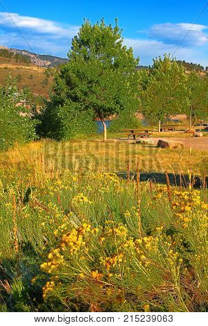 Horsetooth Reservoir County Park is a popular scenic area and campground located in Larimer County Colorado