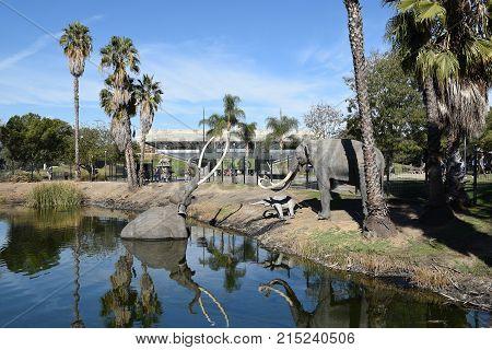 Lake Pit At The La Brea Tar Pits