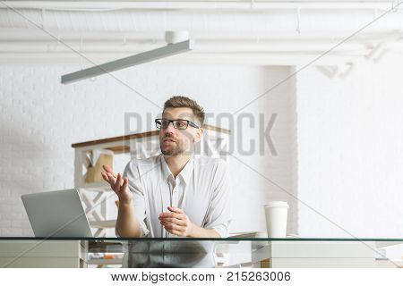 European Business Man Working On Project