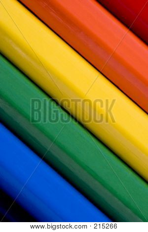 Abstract Colourful Background Of Coloured Pencils