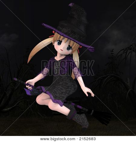 Little Hallowen Witch 01