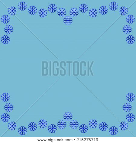 snow frame decoration winter banner rim decoration new year concept cold framework isolated