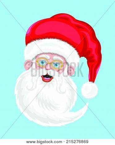 Noel baba karikatür çizimi, vektörel tabanlıdır ve geriplandan bağımsız kullanılabilir.