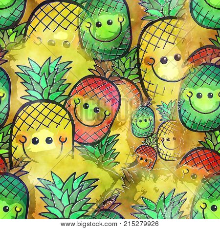 A seamless watercolour background textile print painting.