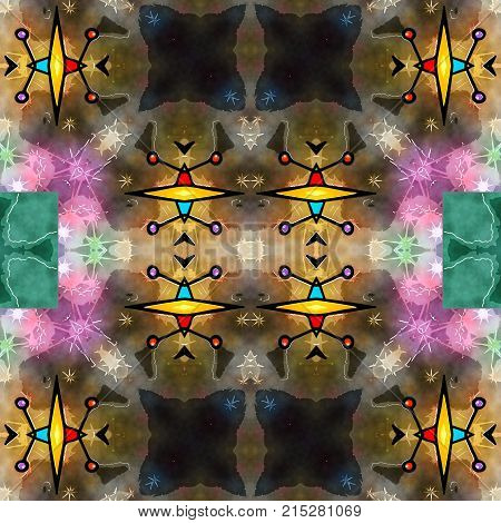 A seamless artistic watercolour background textile pattern.