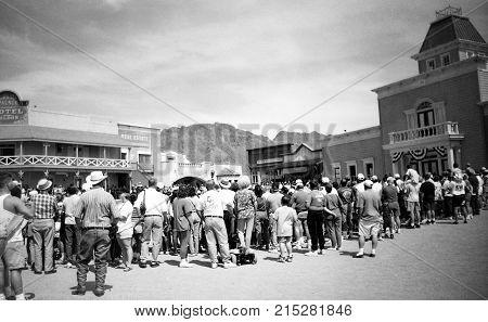 Tucson, AZ, USA, Circa 1998 - Old Tucson Studios, movie studio and theme park just west of Tucson, Arizona - negative film scan