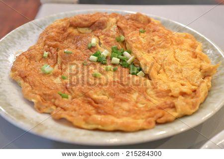 omelet or omelette or fried egg Thai food