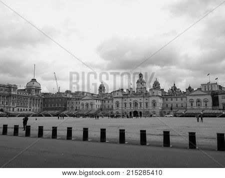 Horse Guards Parade In London Black And White