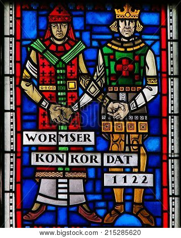 Stained Glass In Worms - Concordat Of Worms