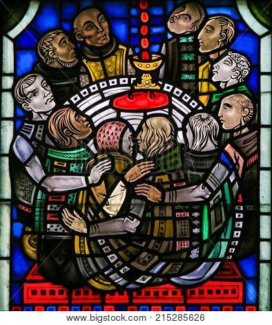 Stained Glass In Worms - Holy Communion