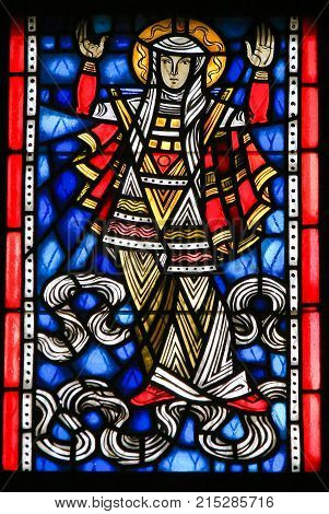 Stained Glass In Worms - Mother Mary