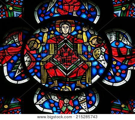 Stained Glass In Worms - Jesus Christ In Heaven