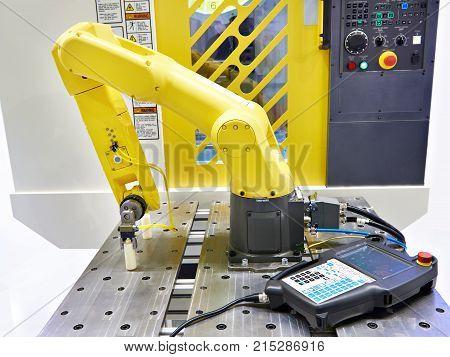 The universal industrial robot manipulator the closeup