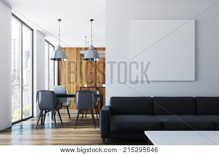 Living Room And Dining Room, Poster Black