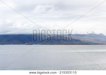 View Of Water Of Atlantic Ocean From Reykjavik