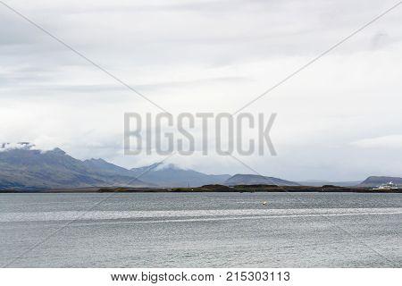 View Of Atlantic Ocean From Reykjavik City