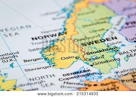 Scandinavia On  A Map