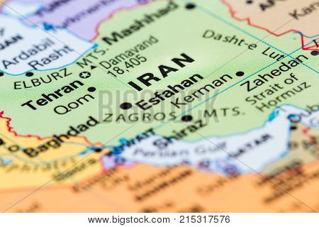 Iran On A Map