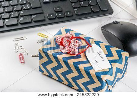 Office Christmas Concept, Secret Santa
