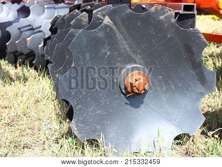 The agricultural machinery for tillage a harrow
