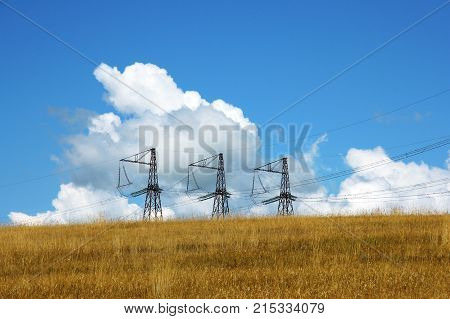 Three Electrical Towers
