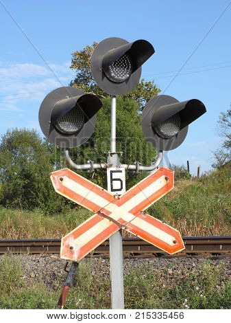 The old Signal lamp beside the railway