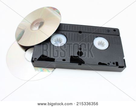 Dvd Disks And Vhs Video The Cartridge