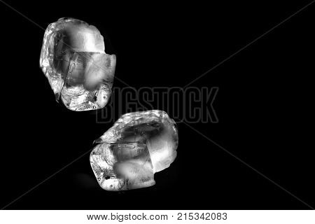 Ice block as background / Ice is water frozen into a solid state. Depending on the presence of impurities such as particles of soil or bubbles of air, it can appear transparent