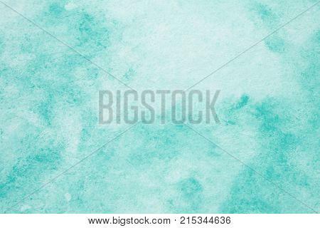 Green abstract watercolor painting textured on white paper background watercolor background for art and design concept