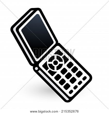 Mobile phone linear icon. Vector illustration EPS8