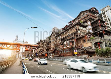 The classical Chinese architecture in Chongqing: Hongya cave