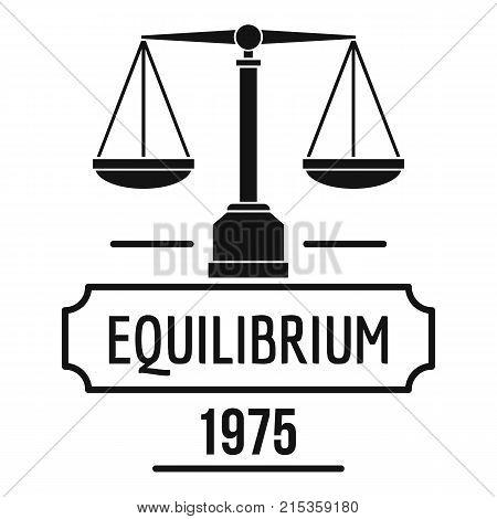 Equilibrium logo. Simple illustration of equilibrium vector logo for web
