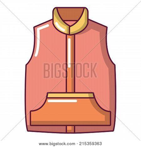 Sleeveless jacket icon. Cartoon illustration of sleeveless jacket vector icon for web