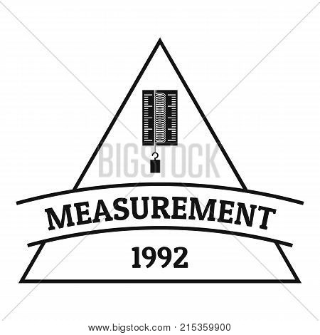 Measurement logo. Simple illustration of measurement vector logo for web