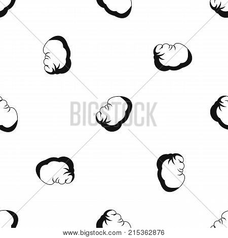 Spleen pattern repeat seamless in black color for any design. Vector geometric illustration