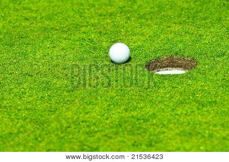 Ball Falls In Hole
