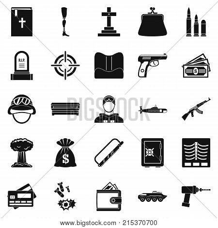 Unleash war icons set. Simple set of 25 unleash war vector icons for web isolated on white background