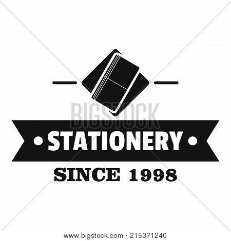 Stationery logo. Simple illustration of stationery vector logo for web