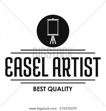 Easel artist logo. Simple illustration of easel artist vector logo for web