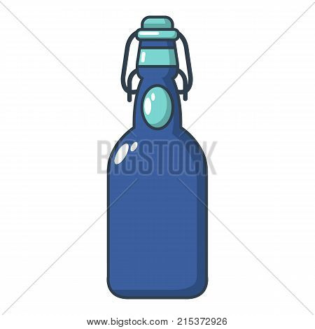 Bottle with bung icon. Cartoon illustration of bottle with bung vector icon for web