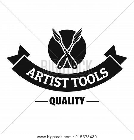 Painting mixing logo. Simple illustration of painting mixing vector logo for web