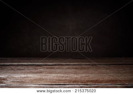 Horizontal shot of elegant brown wooden texture on a brown background with copy space. Wooden background.