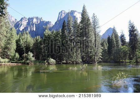 Landscape in Yosemite National Park. California. USA