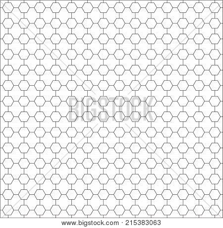 polygon background. seamless pattern. modern hexagon polygon black and white background. abstract geometric hexagon pattern on white background.