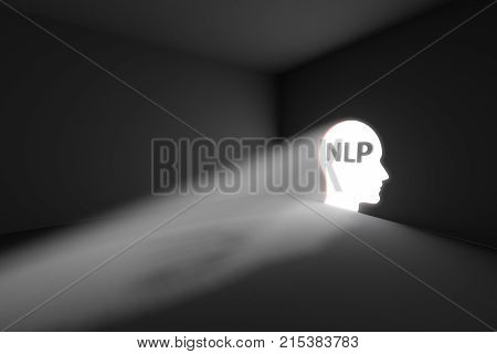 NLP rays volume light concept 3d illustration
