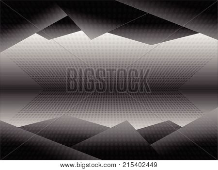 Black And White Dimension Picture Background Illustration