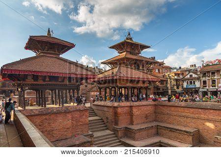 Square Durbar In Patan In Kathmandu Valley.